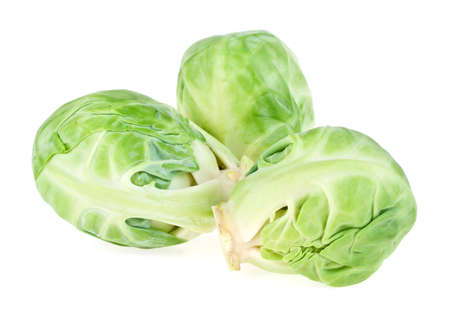 Brussels sprouts on white background Reklamní fotografie
