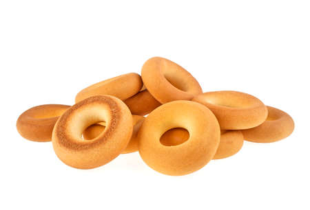 bunches: Bagels isolated on a white background