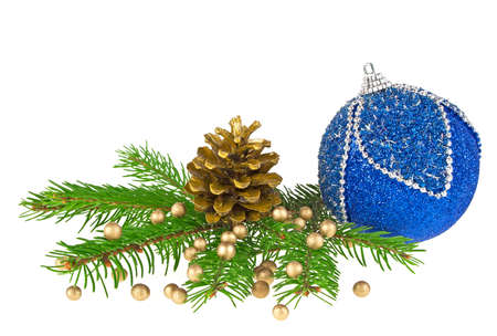 christmas decorations with white background: Christmas decorations on a white background