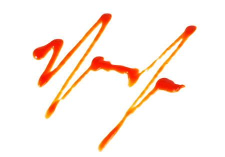 hemorragias: Salsa de tomate aislado en un fondo blanco