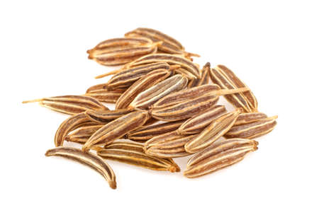 Cumin seeds or caraway isolated on white background 版權商用圖片