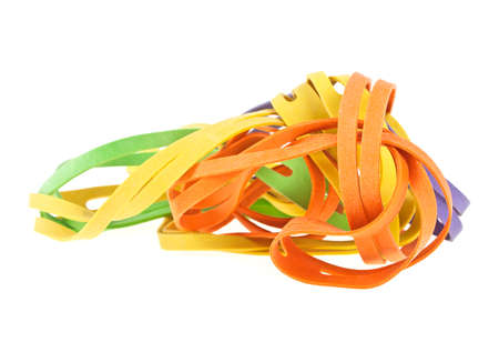 Rubber bands for money isolated on white background Stock Photo