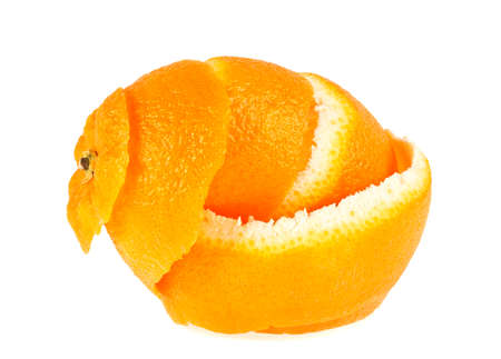 Skin of orange isolated on a white background