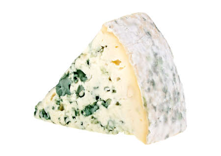 Blue cheese isolated on a white background 스톡 콘텐츠