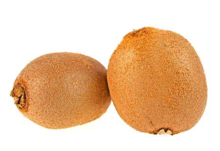 actinidia deliciosa: Ripe kiwi fruits isolated on a white background