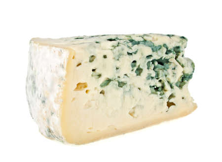 Blue cheese isolated on a white background Stock Photo