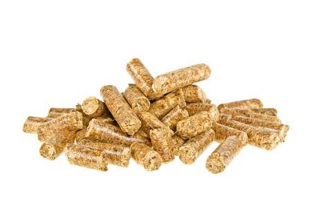 Pastillé aliment composé isolé sur fond blanc, wheatfeed pellets Banque d'images