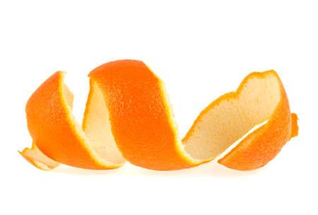 Piel naranja sobre un fondo blanco Foto de archivo - 70139937