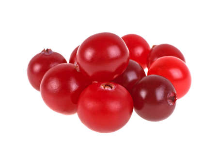 mountain cranberry: Cranberry. Fresh raw berries isolated on white background. Stock Photo