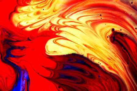 marbled effect: Abstract background of mixed oil paint Stock Photo