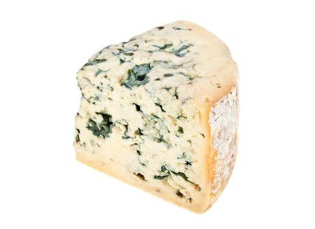 stilton: Blue cheese on a white background