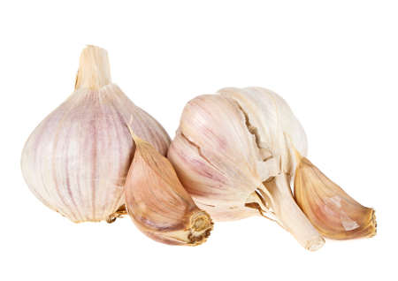 spiciness: Garlic isolated on a white background