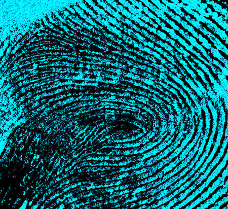 Fingerprint background. Fingerprint with ultraviolet lamp.