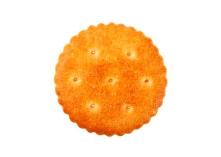 Round cracker isolated on white background Reklamní fotografie - 80831398