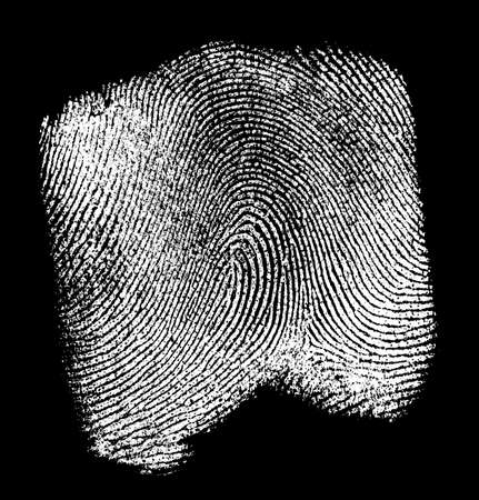 labyrinthine: Fingerprint on black background