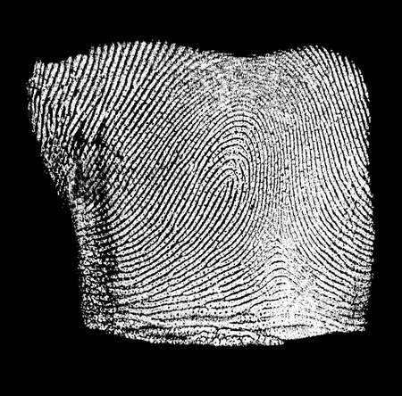 Fingerprint on black background