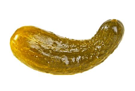 Marinated cucumber isolated on white background