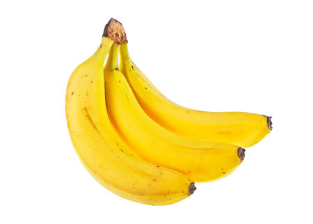 banana skin: Bunch of bananas isolated on a white background