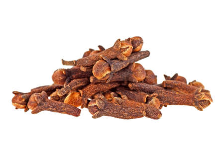 Dry cloves on a white background