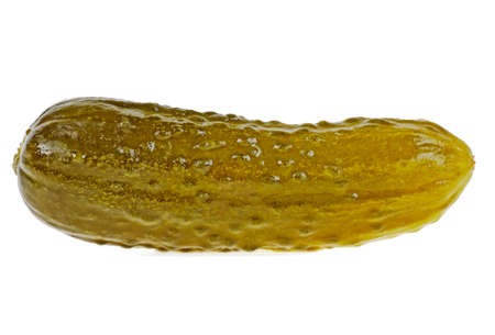 Pickled cucumber isolated on white background