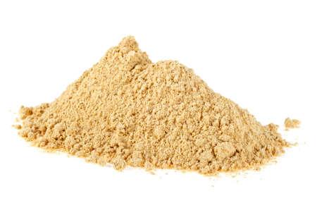 Powdered ginger isolated on white background