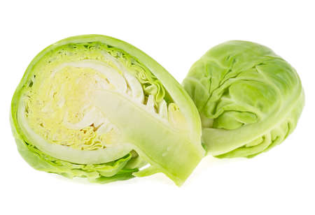Brussels sprouts isolated on a white background Stock Photo