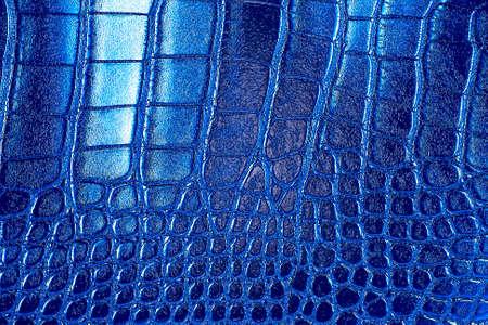 Blue crocodile leather texture 스톡 콘텐츠