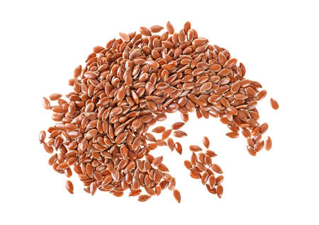 Linseeds on a white background Banque d'images