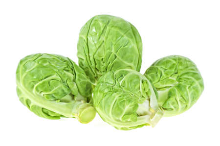 Pile of Brussels sprouts on a white background Stok Fotoğraf