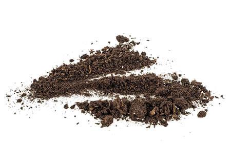 Pile dirt of soil land on white background Reklamní fotografie