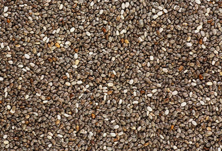 Close up of chia seed as texture background. Healthy superfood.