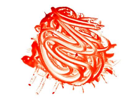 Halloween concept : Blood splash on a white background.