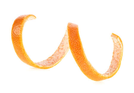 Grapefruit peel isolated on white background