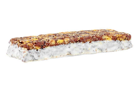 Energy cereal bar isolated on white background
