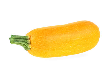 Fresh yellow zucchini isolated on a white background