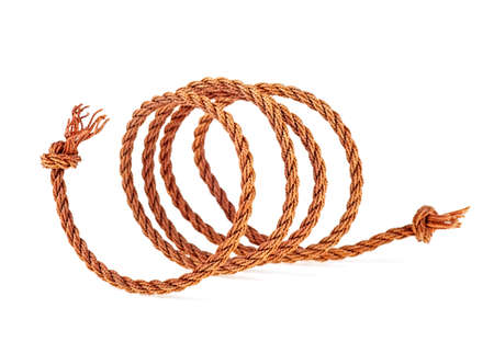 Rope isolated on a white background. Cord thread.