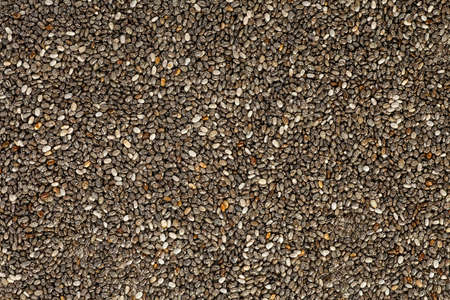 Close-up texture of chia seeds, as background.