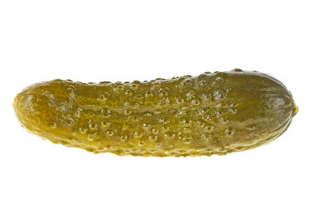 Marinated pickled cucumber isolated on white background. Gherkins.