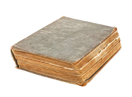 Old book isolated on a white background. Antique book.