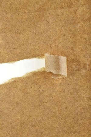 Old paper on a white background - ripped recycle paper. Pieces of torn paper on white background.