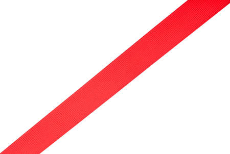 Red ribbon isolated on a white background Standard-Bild