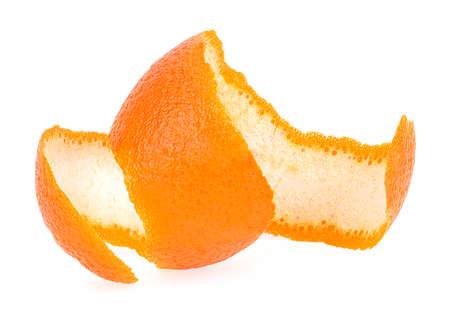 Fresh orange peel isolated on a white background,  Healthy fruit. Vitamin C.