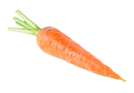Ripe carrot isolated on a white background Stockfoto