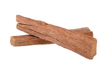 Sandalwood sticks isolated on a white background. Chandan or sandalwood.