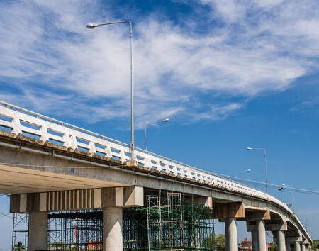 bridge road repair and blue sky Stock Photo - 28037459