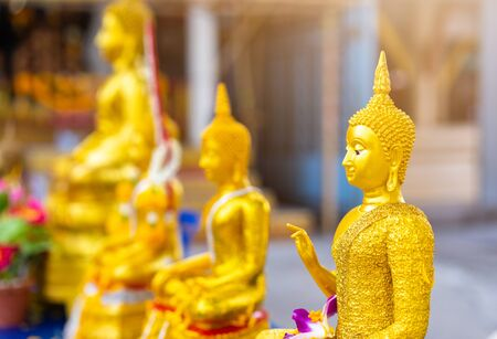 gold buddha statue in the temple