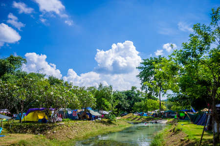 Saraburi, Thailand​ -​  September 5, 2020​ : Travelers come to camping in nature park on holiday