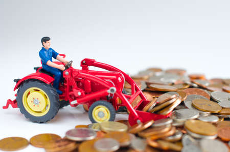 coppers: Man in tractor