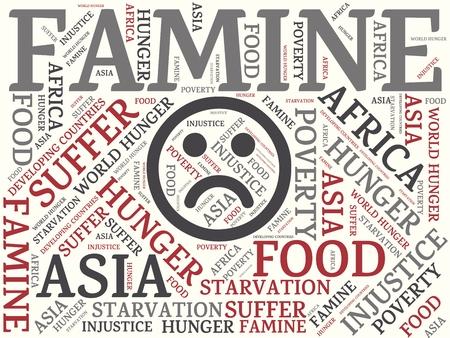 -飢餓 - 飢饉、wordcloud、キューブ、文字、画像、イラストの言葉とイメージ 写真素材 - 80770707