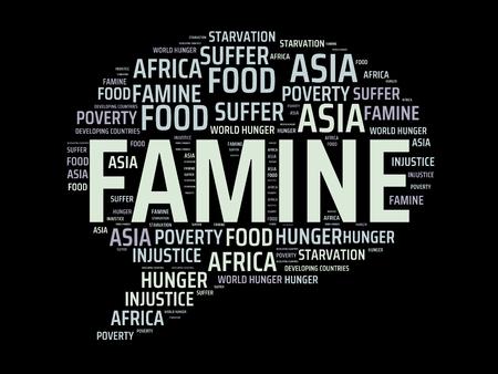 -飢餓 - 飢饉、wordcloud、キューブ、文字、画像、イラストの言葉とイメージ